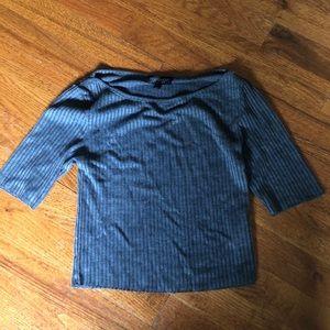 TOPSHOP Knit Gray Crop Top